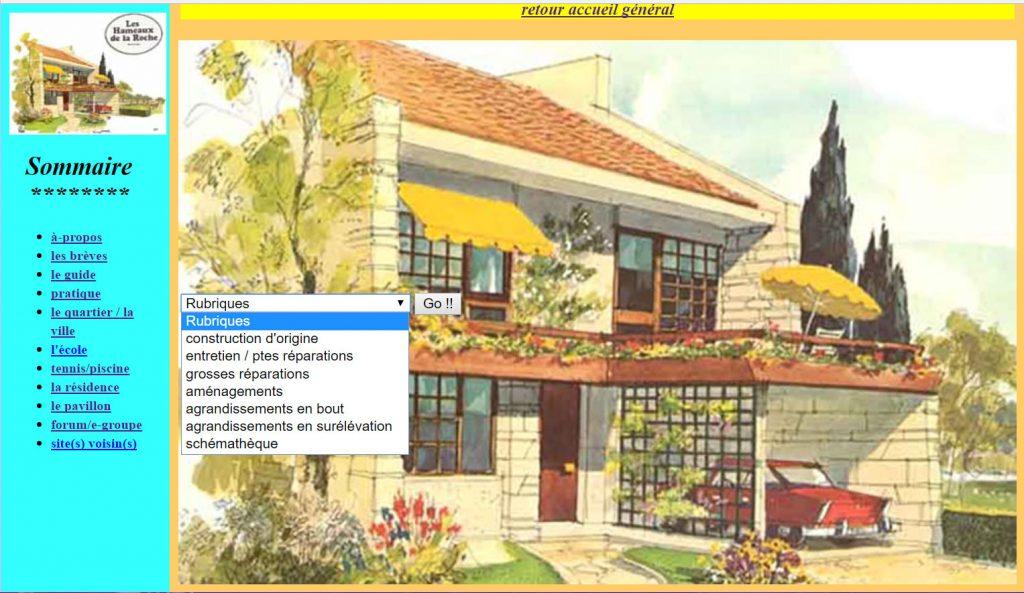 Page Pavillons site Guide des Hameaux
