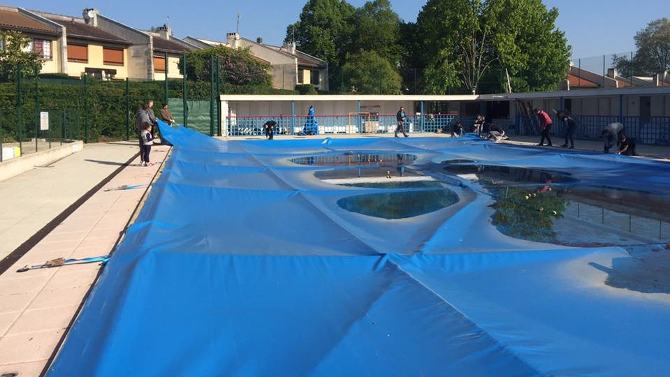 Débachage de la piscine 2017