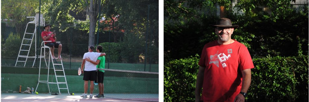 Arbitre de la finale de tennis