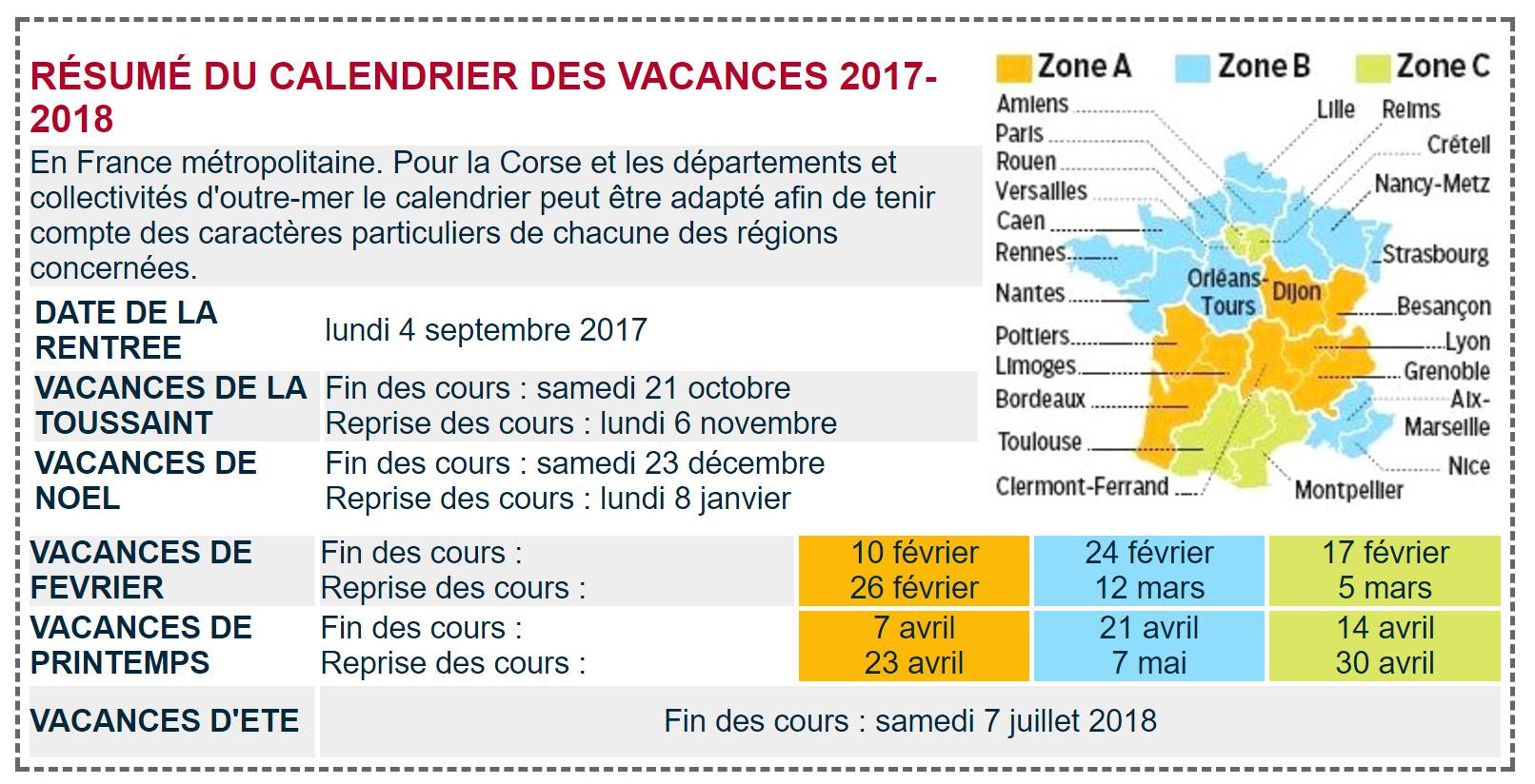Calendrier scolaire 2017 2018 les hameaux de la roche - Vacances toussaint 2017 rennes ...