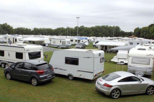 Des caravanes sur le site de Delbar