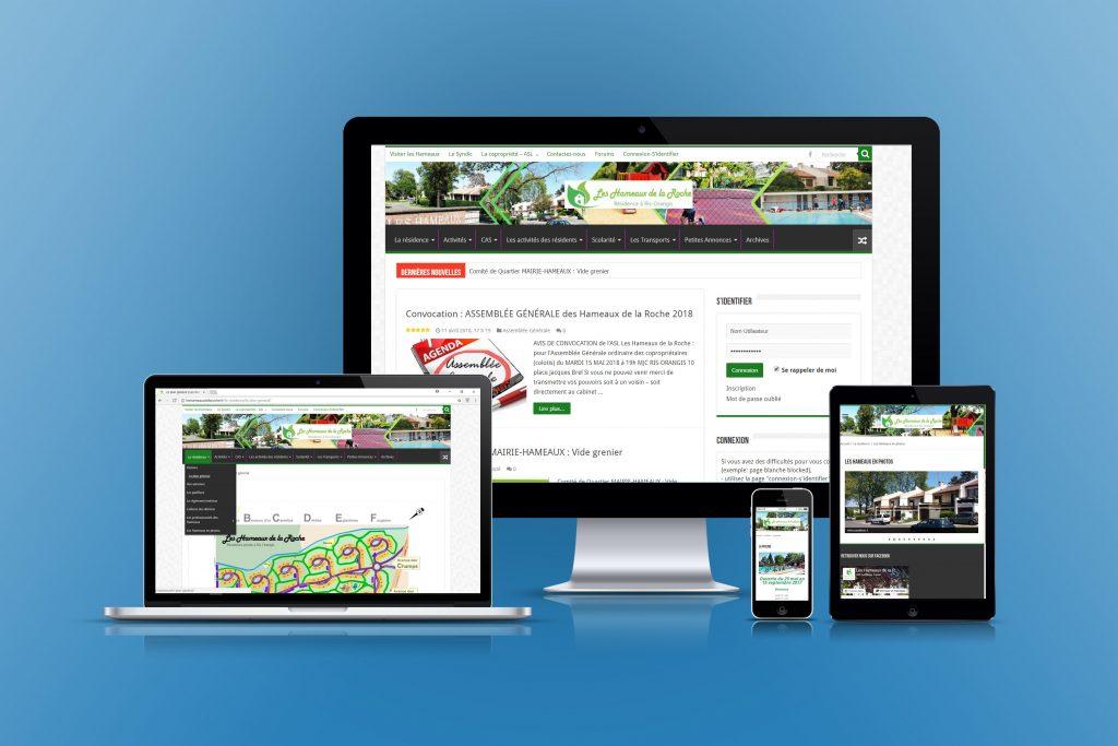 mockup site responsive Hameaux