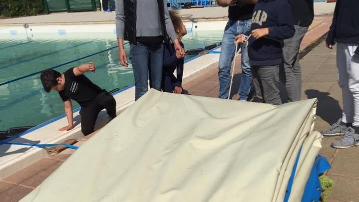07-Débachage de la piscine 2017