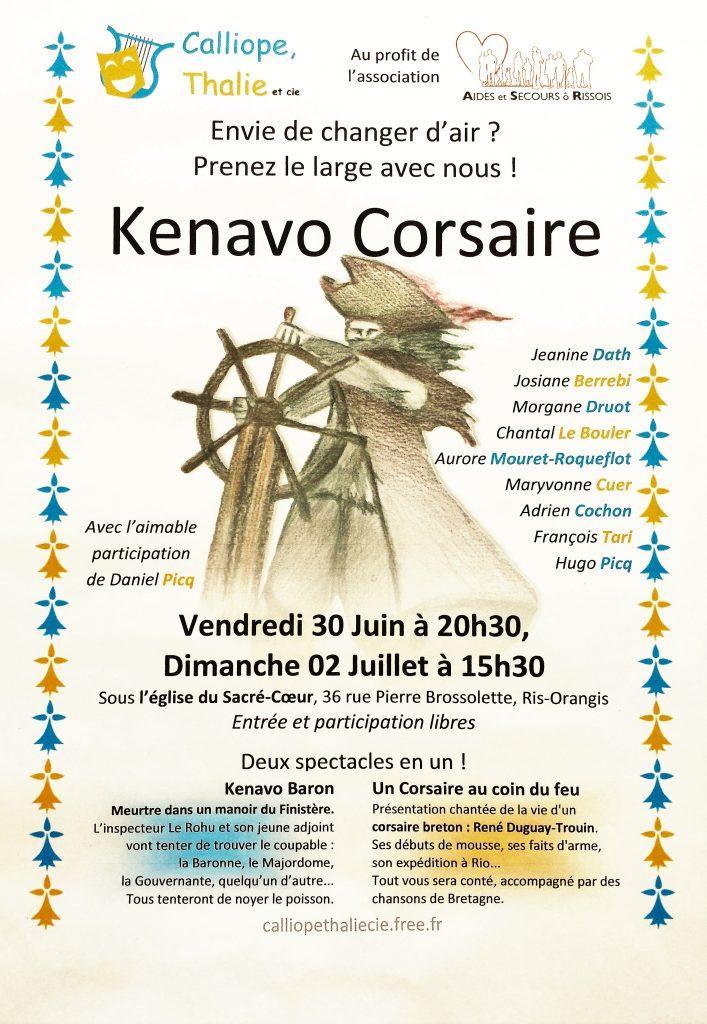 2017-06-22 affiche spectacle Kenavo Corsaire