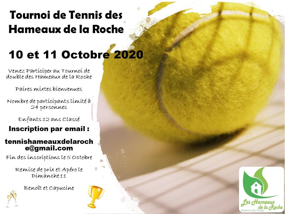 Tournoi de tennis des Hameaux de la Roche, 10 et 11 oct 2020